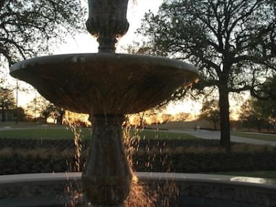 Monument Fountain Near Entrance