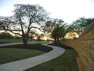 Development Stone Wall at Entrance
