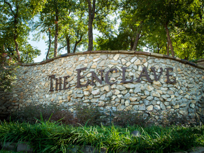Natural Stone Monument Signage at The Enclave Entrance
