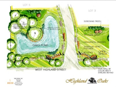 Main Entrance Water Feature Plan