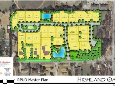 Master Plan Rendering for Highland Oaks