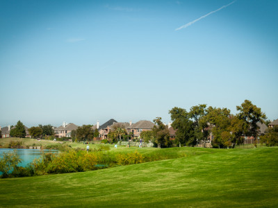 Typical Homes in Riverchase Along Golf Course