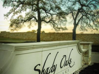 Entrance Monument Signage at Shady Oaks