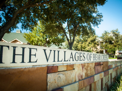 Monument Signage - The Villages at Bear Creek
